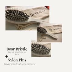 Boar Hair Bristle Brush by the tmamco. Boar Bristle Hair Brush, Hair Brush Set, Smooth Hair, How To Make Hair, Hair Type, Brushes, Shop My, Delivery, Etsy