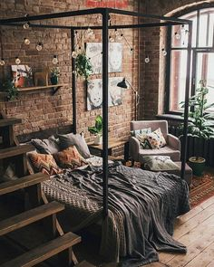 Bohemian Bedroom And Bedding Design Bohemian Bedroom And Bedding Des. - Bohemian Bedroom And Bedding Design Bohemian Bedroom And Bedding Design Best Picture Fo - Dream Rooms, Dream Bedroom, Home Bedroom, Bedroom Furniture, Nature Bedroom, Modern Bedroom, Dark Cozy Bedroom, Loft Style Bedroom, Minimalist Bedroom