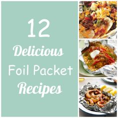 Mouthwatering meals that are made in foil packets. Love the garlic shrimp!