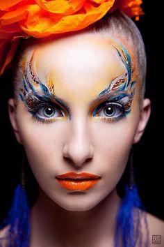 Mua Olga Danilova # creative make up # orange lips # make up artist