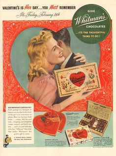 1940s vintage Whitmans Sampler ...His favorite gift at Christmas to Mother, and Jimmy and I got the smaller version...