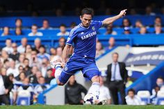 Chelsea Hull: Frank Lampard scores his team's second goal with a super free kick. Best Football Team, Chelsea Football, Football Soccer, Chelsea Fc Players, Super Free, Hull City, Free Kick, Stamford Bridge, Premier League