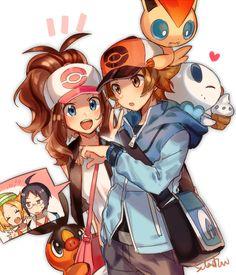 Pokemon black and white Pokemon Manga, Pokemon Mew, Pokemon Comics, Touko Pokemon, Black Pokemon, Pokemon Fan Art, Pokemon Ships, Pikachu, Pokemon Adventures Manga