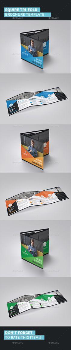 Squire Tri-Fold Brochure Design Template - Corporate Brochures Design Template Vector EPS, AI Illustrator. Download here: https://graphicriver.net/item/squire-trifold-brochure-template/19425202?ref=yinkira