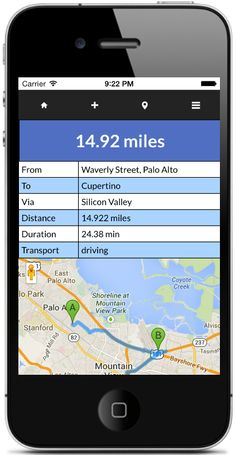 Route calculator - Calculate your routes for iPhone