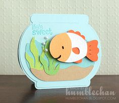 create a critter cards | Humblechan: Life's Sweet Fishbowl Card and Donation Update!