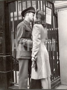 Soldier Kissing His Girlfriend Goodbye in Pennsylvania Station Before Returning to Duty Photographic Print by Alfred Eisenstaedt at Art.com