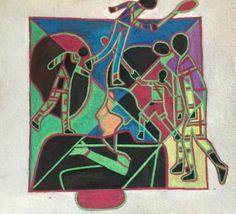 "Saatchi Art Artist annemarie baldauf; Painting, ""Sea Green Suffering"" #art"