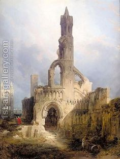 The Ruins Of St Andrews Cathedral by David Roberts