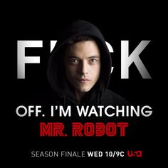 Don't Bother Me I'm Watching Mr. Robot | Photo Galleries | Mr. Robot | USA Network