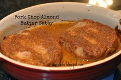#glutenfree #dairyfree Life of a Wise Wife : Pork Chop Almond Butter Satay