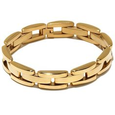 Men's Goldtone Stainless Steel Panther-Link Bracelet. available for purchase at www.hsn.com. Link Bracelets, Bracelets For Men, Jewelry Bracelets, Gents Bracelet, Male Jewelry, Women Jewelry, Gold Bracelet For Women, China Jewelry, Gold Jewellery Design
