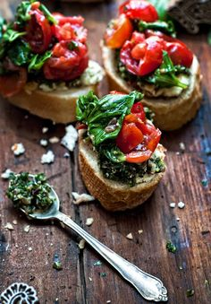 Bruschetta, Indian Style (with homemade paneer and mint & cilantro chutney recipes)