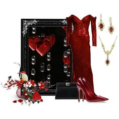 """Heart & Crystals"" by mary-rt on Polyvore"
