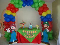 Mario Brothers Balloon arch