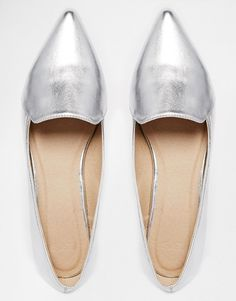 Image 3 of ASOS LIVE A LITTLE Pointed Ballet Flats