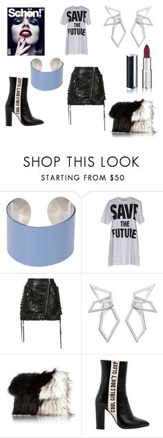"""""""Don't Sleep - Save The Future!"""" by aqualyra ❤ liked on Polyvore featuring Maison Margiela, Adaptation, W. Britt, River Island, Havva, Givenchy, rock, glam and punked"""