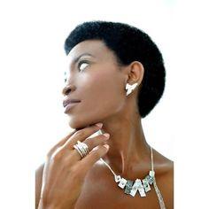 statement silver ear studs | Linda Friedrich Jewelry