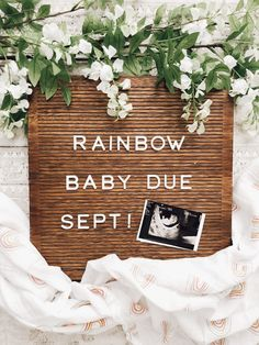 We've got some pretty life-changing news to finally share! Complete with a video update, photos and the story of how we found out. Rainbow Baby Announcement, Baby Announcement To Husband, Cute Baby Announcements, Creative Pregnancy Announcement, Pregnancy Announcement Photos, Rainbow Baby Quotes, Fall Maternity Pictures, First Baby Pictures, September Baby