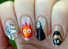 A girl and her chicken named Betty: Ghibli Universe Nail Art with Born Pretty Nail Art Brushes