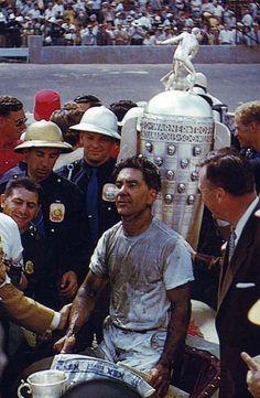 Bill Vukovich winning the 1954 Indy 500.