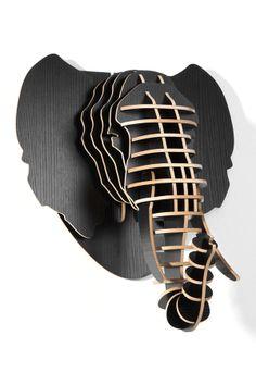 3D Black Elephant Head on HauteLook