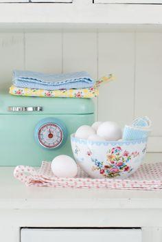 Minty House kitchen, pastels, Ib Laursen
