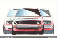 MK2 Golf Design Sketches