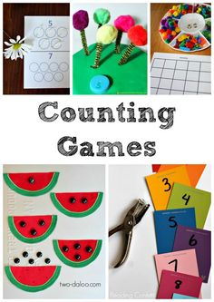 5 Fun Counting Games for Kids. Preschool and Kindergarten Math Games for Kids Learning to Count Numbers Preschool, Learning Numbers, Math Numbers, Preschool Learning, Kindergarten Math, Early Learning, Teaching Math, Kids Learning, Elementary Math