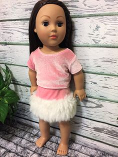18 American Made Doll Clothes Pink Velvet by sassydollcreations