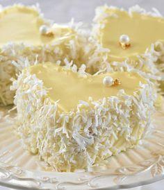 Mini cake de chocolate blanco Revista Luz - Isabel Vermal