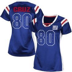 Victor Cruz New York Giants Women s Draft Him Shimmer V-Neck T-Shirt -  Royal Blue eb1ecb046