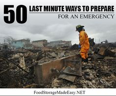 50 Last Minute Ways to Prepare for an Emergency. Includes free printable download.