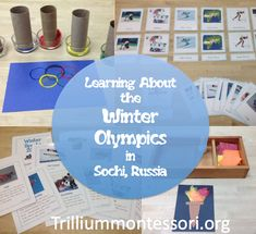 Winter Olympics Montessori Activities (from Trillium Montessori) Social Activities, Montessori Activities, Teaching Activities, Craft Activities, Olympic Idea, Olympic Games, Winter Olympics 2014, Kids Olympics, Winter Activities For Kids