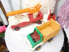 1978 Fisher Price  Adventure  /Husky  People Firer Truck 1979 Rodeo   Ranch Truck 1978 /No people by Daysgonebytreasures on Etsy