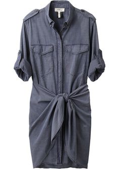 "Etoile Isabel Marant. Qimi Shirtdress. When I was in fashion school, my ""uniform"" consisted mostly of dresses and bottoms with a wrap sarong front. For me, it was the best way to show that I had a waist without having to wear a belt. I think it's time I revisit that look."