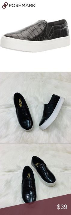 735a3e9010f2 Sam Edelman Lacey Black Crocodile Slip Ons Adorable slip on shoes from Sam  Edelman💕 Size