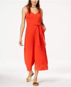 7a477b342f8c Trina Turk Cropped Wide-Leg Jumpsuit   Reviews - Pants   Capris - Women -  Macy s