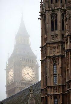 Foggy Big Ben, London