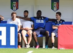 Mario Balotelli of Italy during a training session on June 16 2014