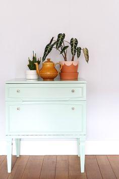 MY ATTIC SHOP / vintage dresser / mint green / pastel www.entermyattic.com