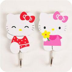 Hello Kitty Wooden Wall Hooks - Hello Kitty Stores