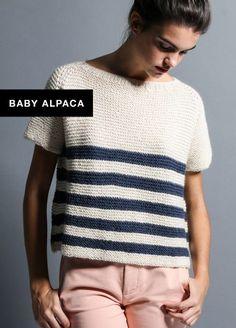knitting kit baby alpaca Script tee