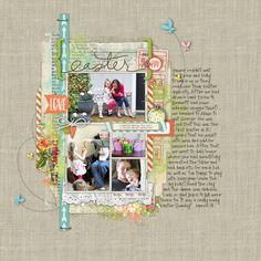 Easter (2 pages) - Digital Scrapbooking Ideas - DesignerDigitals