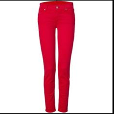 Red 7 For All Man Kind Gwenevere Skinny JeansNWT. Price: $100 Size: 32