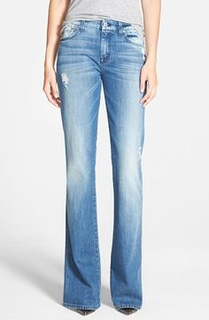 7+For+All+Mankind®+'A-Pocket'+Distressed+Bootcut+Jeans+(Red+Cast+Heritage)+available+at+#Nordstrom