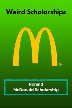 Ronald McDonald Scholarship Ronald McDonald Scholarship - College Scholarships Tips Financial Aid For College, College Fund, College Planning, College Board, Online College, Education College, College Life, Dorm Life, College Hacks