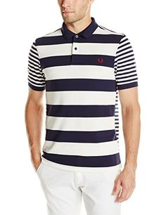 Fred Perry Men's Mixed Stripe Polo Shirt  http://www.allmenstyle.com/fred-perry-mens-mixed-stripe-polo-shirt/