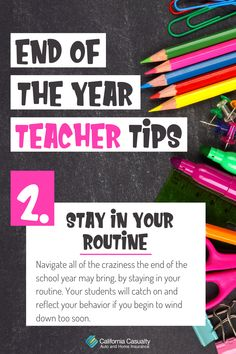 Tip 2- Any experienced teacher will tell you that one of the best tips to navigate all of the craziness the end of the school year may bring, is to stay in your routine. Your students will catch on and reflect your behavior if you begin to wind down too soon. That being said you can play games and end of the year activities just be sure to keep your classroom structure. Final Grade, Try Something New, Teacher Hacks, Helpful Tips, Lesson Plans, Knowing You, Behavior, Reflection, Told You So