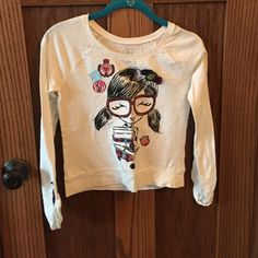 School girl long sleeve shirt White long sleeve school girl Justice size 14 in great condition buttons on both sleeves Justice Tops Tees - Long Sleeve